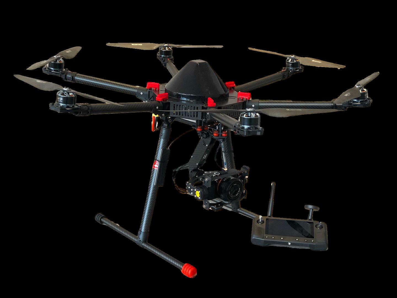 drone topografie hexa