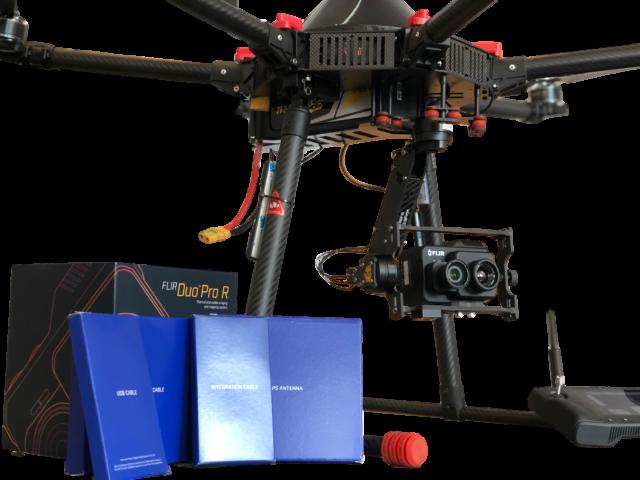 Drona pentru supraveghere cu camera flir- termica